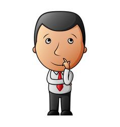cartoon businessman thinking vector image