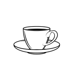 Classic teacup white vector