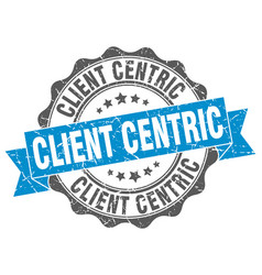 Client centric stamp sign seal vector