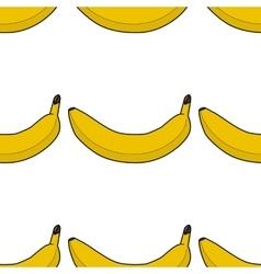 Colorful seamless pattern of bananas vector image
