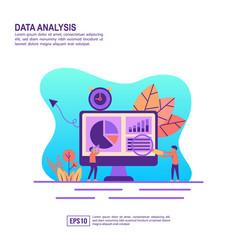 concept data analysis modern conceptual for vector image