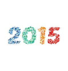 Creative colorful circle happy new year 2015 vector