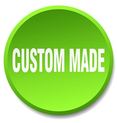 custom made green round flat isolated push button vector image