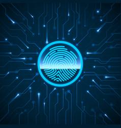 Cyber security fingerprint scanning vector