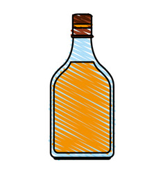 Delicious wine drink bottle vector