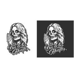 dia de los muertos badge vector image