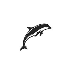 Dlphin black icon silhouette symbol of dolphin vector