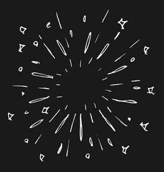 doodle design element starburst firework vector image