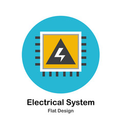 Electrical system flat icon vector