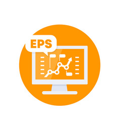 Eps earnings per share financial icon vector