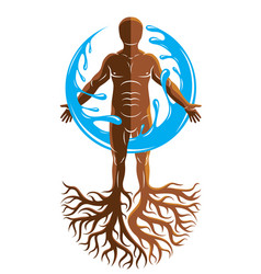 Graphic of muscular human individual created with vector