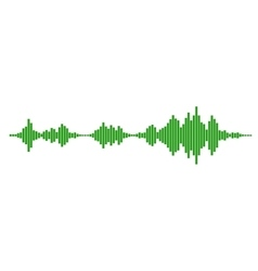 Green sound waves vector