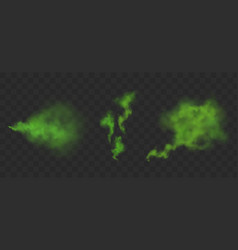 Green stinking clouds bad smell vector