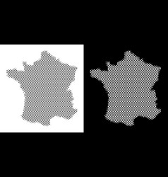 halftone france map vector image