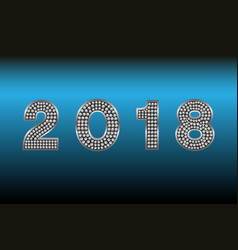 happy new year 2018 backgroundtypographic vector image