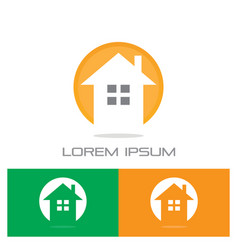 Home building contruction logo vector
