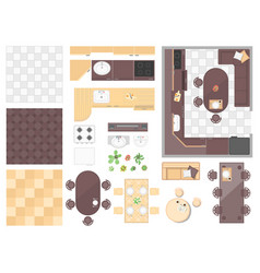Kitchen elements - set of modern objects vector