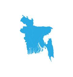 Map of bangladesh high detailed map - bangladesh vector