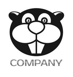 modern beaver logo vector image