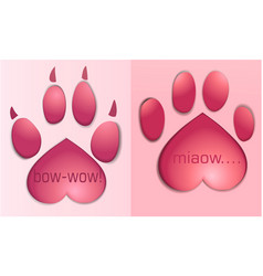 pet paws vector image