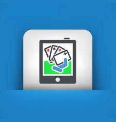 Poker game icon vector