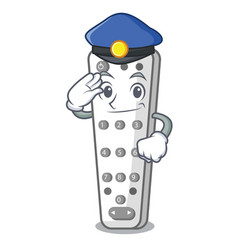 police character remote control for media center vector image