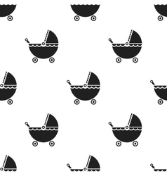 Pram black icon for web and mobile vector image