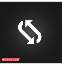 Repetition arrow flat icon vector
