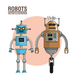 Robots technology future image vector
