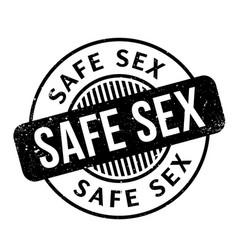 safe sex rubber stamp vector image