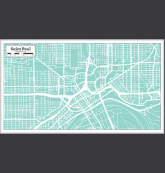 Saint paul minnesota usa city map in retro style vector