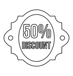 Sale 50 percent off discount lable icon vector image