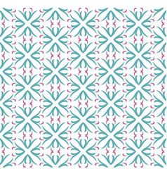 seamless abstract floral pattern symmetry modern vector image