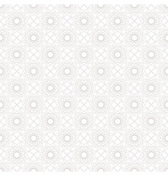 Seamless pattern of geometric elements vector