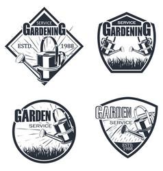 set 4 garden service vector image
