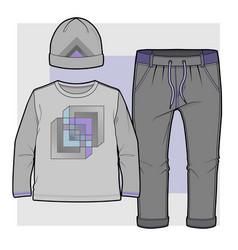 Set items for a toddler boy vector