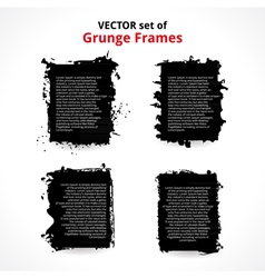 Set of Grunge Frames vector