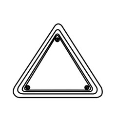 Silhouette triangle shape traffic sign icon vector