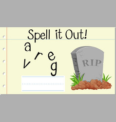 Spell it out grave vector