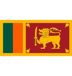 Sri Lankan flag vector image