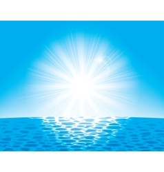 sun over the sea vector image