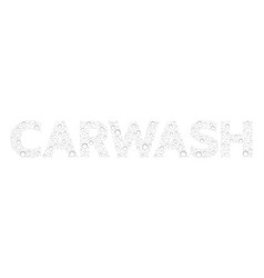 Text from droplets texture word carwash vector