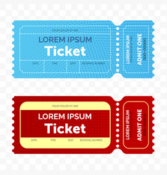 ticket retro modern design template vector image