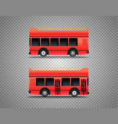 Touristic bus isolated on transparent background vector