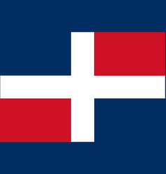 Trading flag of dominican republic vector