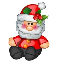 Traditional Santa Claus sits isolated character vector image