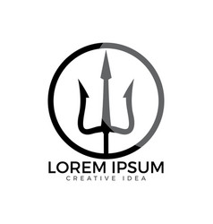 Trident logo design vector