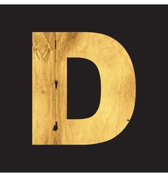 Uppercase letter D of the English alphabet vector image