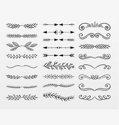 variety decorative ornaments set vector image