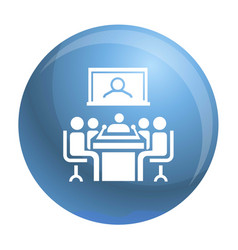 Video conference icon simple style vector